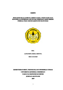 The Effect Of Audit Tenure Audit Opinion And Profitability On Audit Report Lag With Audit Committee As The Moderating Variable Empirical Study In Manufacturing Companies In Indonesia Stock Exchange Repository Universitas